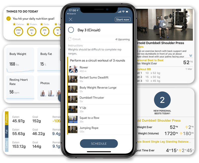 Coach Donovan's Virtual Online Personal Training and Nutrition Tracking Mobile App for Apple and Android